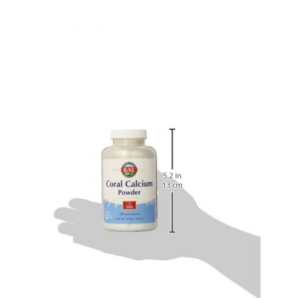 KAL Calcium Supplement 4 KAL Coral Calcium Powder 1000 mg Tablets, Unflavored, 8 Ounce