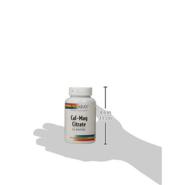 Solaray Calcium Supplement 4 Solaray Cal-Mag Citrate 1:1, Veg Cap (Btl-Plastic)   90ct