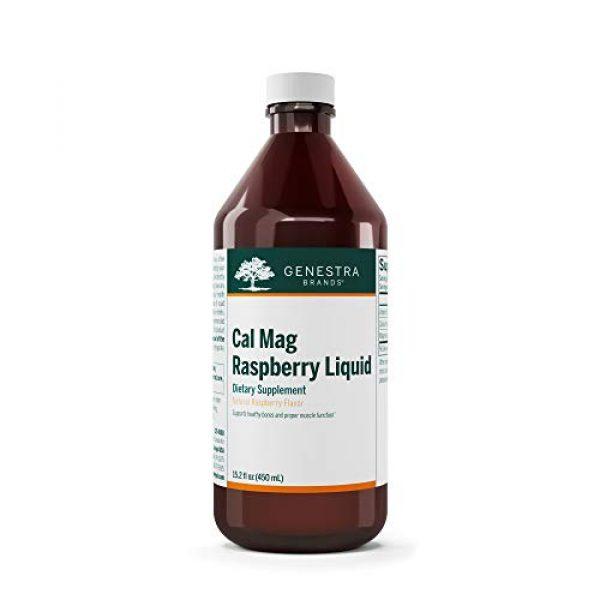Genestra Brands Calcium Supplement 1 Genestra Brands - Cal Mag Raspberry Liquid - Calcium and Magnesium Citrate Formula with Vitamin D - 15.2 fl. oz.