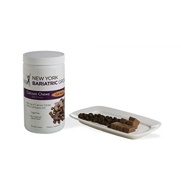 New York Bariatric Group Calcium Supplement 1 New York Bariatric Group Calcium Citrate Soft Chews with D3 - Cafe Mocha - for Bone and Metabolic Support