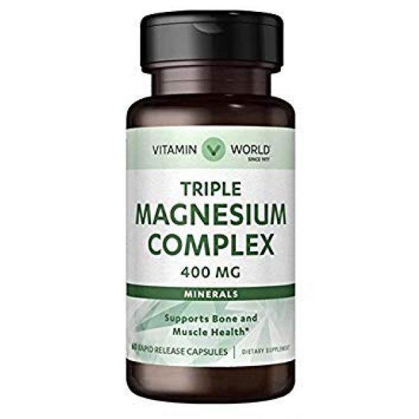 Vitamin World Calcium Supplement 1 Vitamin World Triple Magnesium Complex 400mg 60 Rapid Release Capsules