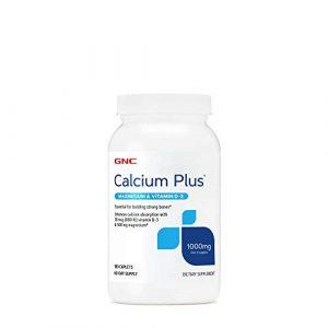 GNC Calcium Supplement 1 GNC Calcium Plus Magnesium & Vitamin D-3 1000 mg