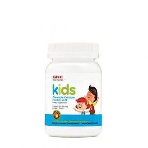 GNC Calcium Supplement 1 GNC Milestones Kids Chewable Calcium, 60 Tablets, Supports Strong, Healthy Bones and Teeth