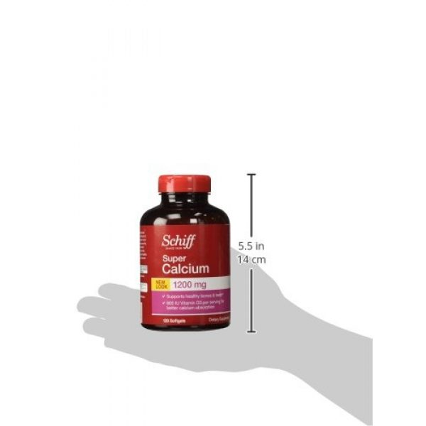 Schiff Calcium Supplement 5 Schiff Super Calcium - 1200 mg - 120 Softgels