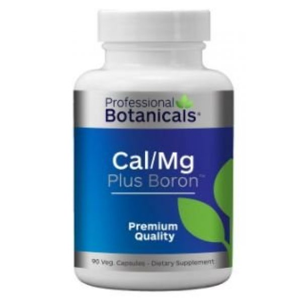 Professional Botanicals Calcium Supplement 1 Professional Botanicals Cal/Mg + Boron - Vegan Formulated to Support Bone Health and Healthy Skin, Teeth and Nails Calcium Magnesium and Boron 90 Vegetarian Capsules