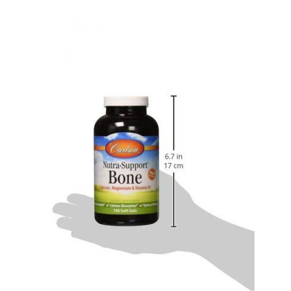 Carlson Calcium Supplement 4 Carlson - Nutra-Support Bone, Calcium, Magnesium & Vitamin D3, Bone Health, Calcium Absorption & Optimal Wellness, 180 Softgels