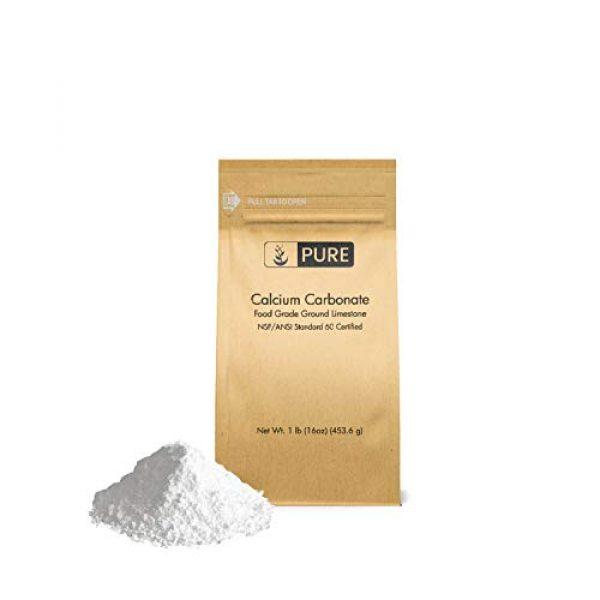 Pure Organic Ingredients Calcium Supplement 1 Pure Calcium Carbonate Powder (1 lb), Eco-Friendly Packaging, Dietary Supplement, Antacid, Food Preservative, More