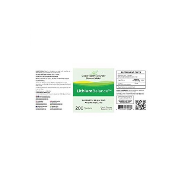 GOOD HEALTH NATURALLY BECAUSE IT WORKS! Calcium Supplement 2 LithiumBalance