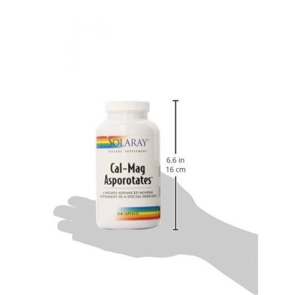 Solaray Calcium Supplement 5 Solaray Calcium and Magnesium Asporotate Capsules   240 Count