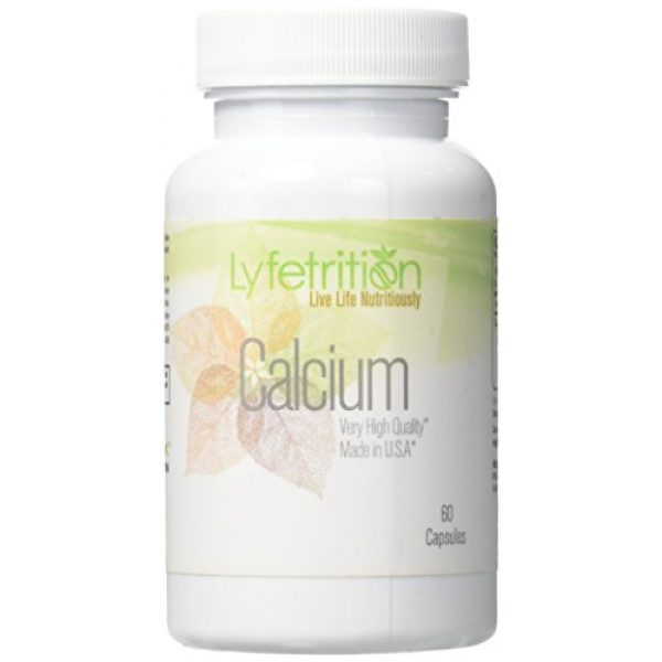 Lyfetrition Calcium Supplement 1 Lyfetrition Calcium Citrate 60 Capsule Made in USA