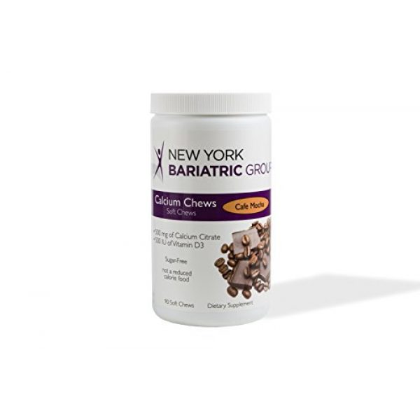 New York Bariatric Group Calcium Supplement 2 New York Bariatric Group Calcium Citrate Soft Chews with D3 - Cafe Mocha - for Bone and Metabolic Support