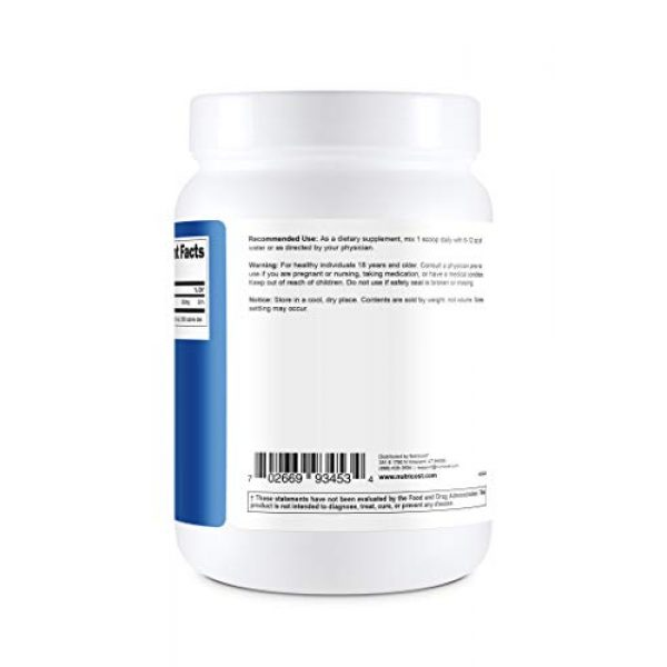 Nutricost Calcium Supplement 4 Nutricost Pure Calcium Citrate Powder (500 Grams) (Unflavored) - No Fillers, Gluten Free (1.1lbs)