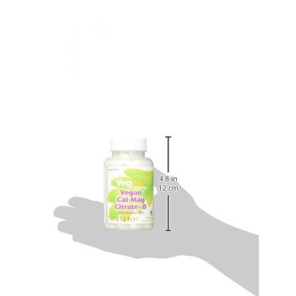 Veglife Calcium Supplement 2 VegLife Cal-Mag Citrate Plus D Vegan Tablet, 500 mg, 180 Count