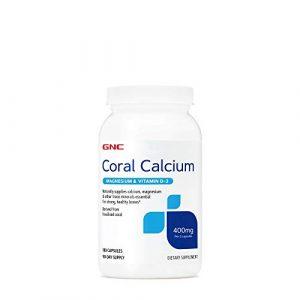 GNC Calcium Supplement 1 GNC Coral Calcium 400mg with Magnesium and Vitamin D3, 180 Capsules, Supplies Calcium and Magnesium for Healthy Bones and Teeth