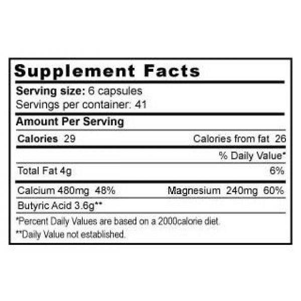 Jigsaw Health Calcium Supplement 2 Butyrex from T.E. Neesby, 600 mg, 250 Capsules