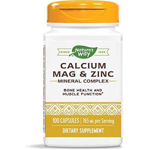 Nature's Way Calcium Supplement 1 Nature's Way Calcium, Magnesium & Zinc, 765 mg per serving, 100 Capsules