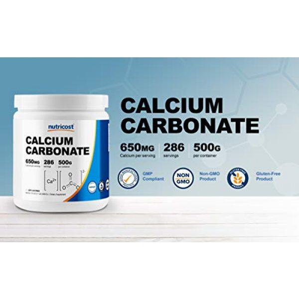 Nutricost Calcium Supplement 3 Nutricost Calcium Carbonate Powder 500 Grams
