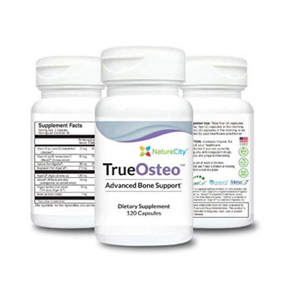 NatureCity Calcium Supplement 1 True-Osteo Plant Calcium Bone Support Supplement w AlgaeCal Vitamin K2 Magnesium (3)