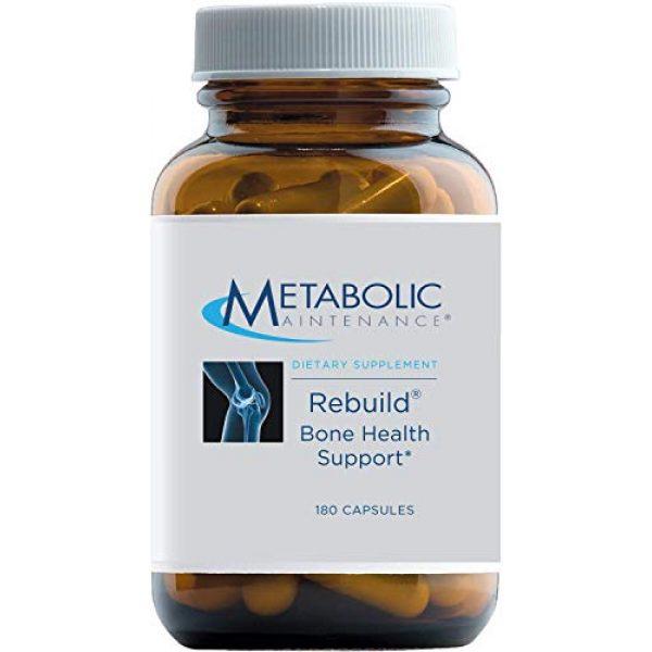 Metabolic Maintenance Calcium Supplement 1 Metabolic Maintenance Rebuild - Bone Health Support Supplement with Calcium, Vitamins D + K2, Zinc, Magnesium Citrate + Trace Minerals, No Fillers (180 Capsules)