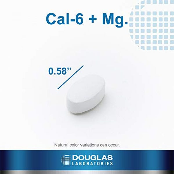 Douglas Labs Calcium Supplement 4 Douglas Laboratories - Cal-6 + Mg. - Six-Source Calcium Complex with Magnesium to Support Healthy Bones and Teeth - 90 Tablets