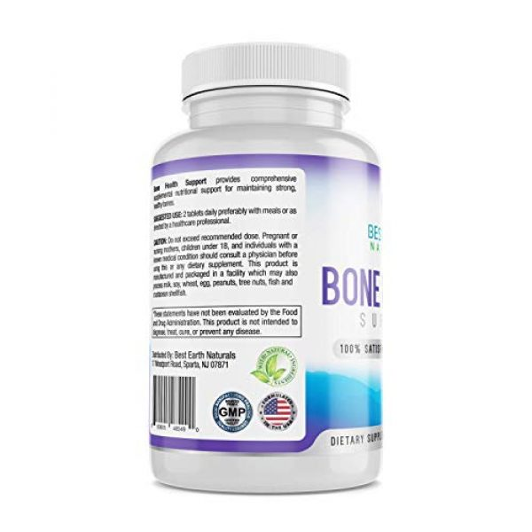 Best Earth Naturals Calcium Supplement 4 Bone Health Support for Men and Women with Calcium and Bone Vitamins to Maintain Strong, Healthy Bones - 60 Tablets