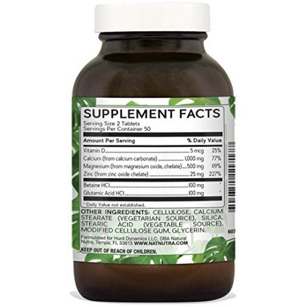 Natural Nutra Calcium Supplement 2 Natural Nutra Calcium Magnesium Zinc Supplement with Vitamin D3 for Bone Strength, Health and Healing, Gluten Free and Sugar Free, Essential Mineral Complex - 100 Vegetarian Tablets