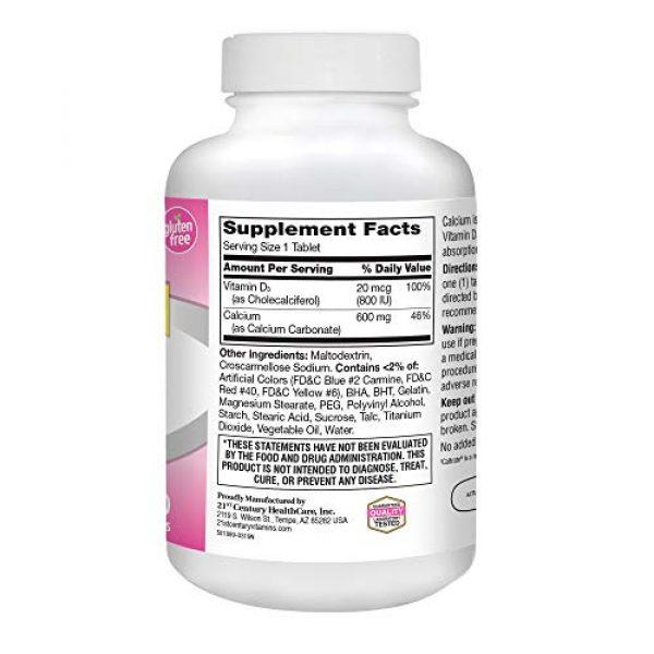 21st Century Calcium Supplement 4 21st Century Calcium Plus D Supplement, 600 mg, 400 Count
