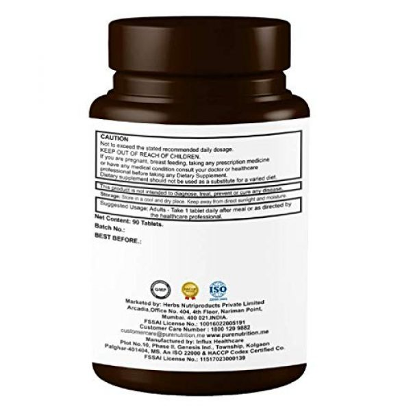 PURENUTRITION ME Calcium Supplement 5 Pure Nutrition Ultra Calcium Citrate 1250mg Highly absorbable Calcium Supplement with Calcium Citrate Malate, Vitamin D, Zinc and Magnesium - 1 Tablet Daily (90 Veg Tabs) Non-GMO | Gluten-Free