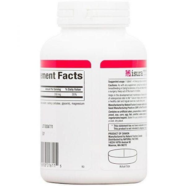 Natural Factors Calcium Supplement 5 Natural Factors, Calcium Citrate, Helps Maintain Strong Bones and Teeth, 90 tablets (90 servings)