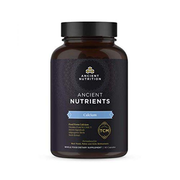 Ancient Nutrition Calcium Supplement 1 Ancient Nutrients Calcium - Food Form Calcium, Vitamin D for Immune Support & K2, Adaptogenic Herbs, Enzyme Activated, 90 Capsules