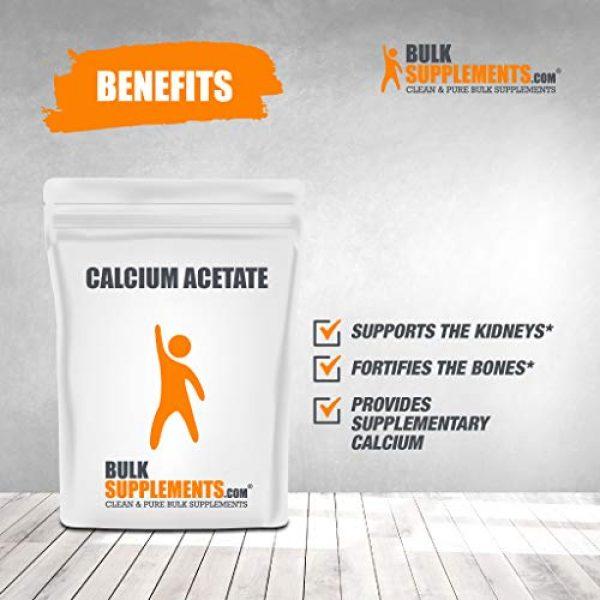 BULKSUPPLEMENTS.COM Calcium Supplement 3 Calcium Acetate (100g)