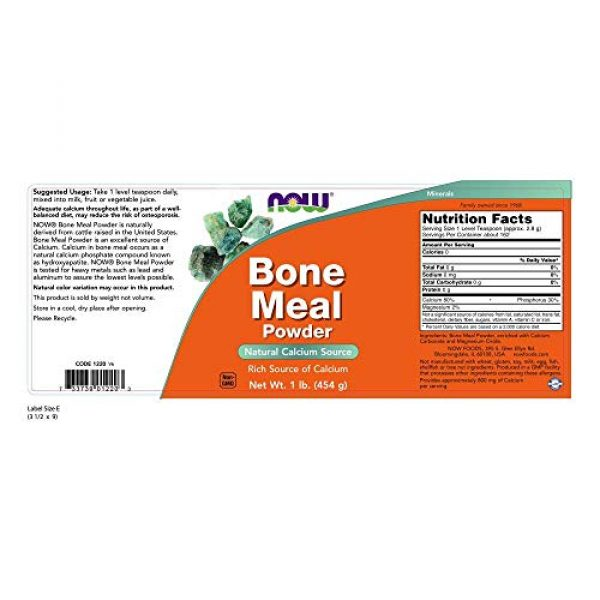 NOW Foods Calcium Supplement 2 NOW Bone Meal,1-Pound (Pack of 2)