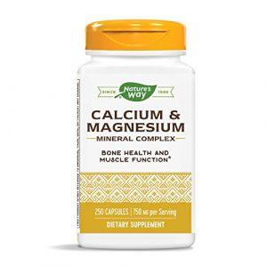 Nature's Way Calcium Supplement 1 Nature's Way Calcium & Magnesium Mineral Complex, 750 mg per serving, 250 Capsules