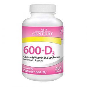 21st Century Calcium Supplement 1 21st Century Calcium Plus D Supplement, 600 mg, 400 Count