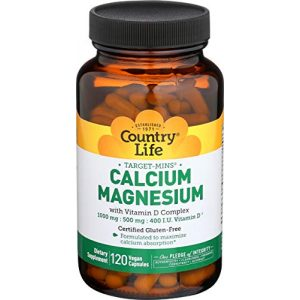 Country Life Calcium Supplement 1 Country Life Cal-Mag Veg Capsules, 120 Capsules