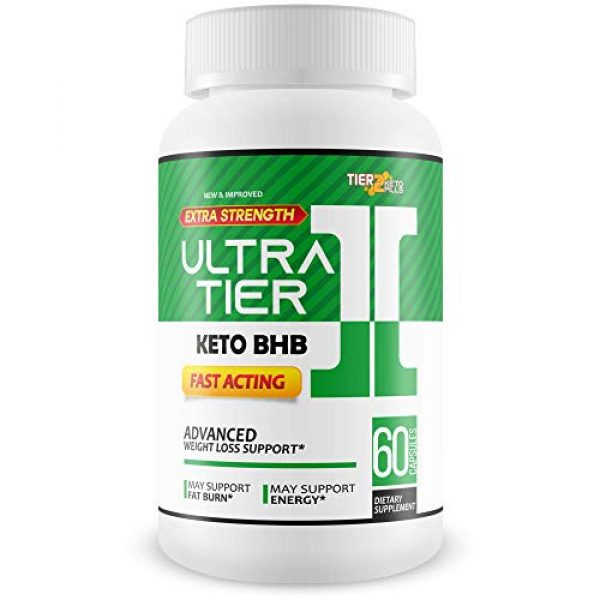 Tier 2 Keto Pills Calcium Supplement 1 Ultra Tier II Keto Pills with Bhb - Fast Acting Advanced Weight Loss Support - Burn More Fat & Lose More Weight with Faster Ketosis - Calcium BHB - Ketogenic Accelerator - Tier 2 Keto Pills