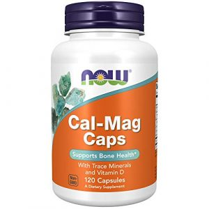 NOW Foods Calcium Supplement 1 NOW Supplements, Cal-Mag with Zinc, Copper, Manganese and Vitamin D, 120 Capsules