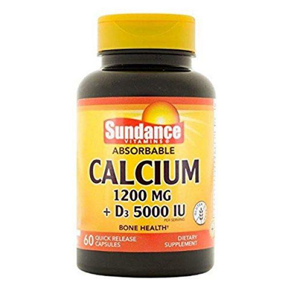 Sundance Calcium Supplement 1 Sundance Calcium 1200 mg Plus Vitamin D3 5000 IU Tablets, 60 Count