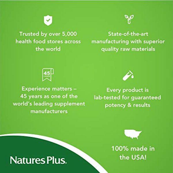 Nature's Plus Calcium Supplement 5 NaturesPlus Dolomite 44 Grain - 300 Vegetarian Tablets - Calcium & Magnesium Supplement, Heart Health Support, Promotes Healthy Bones - Hypoallergenic, Gluten-Free - 75 Servings