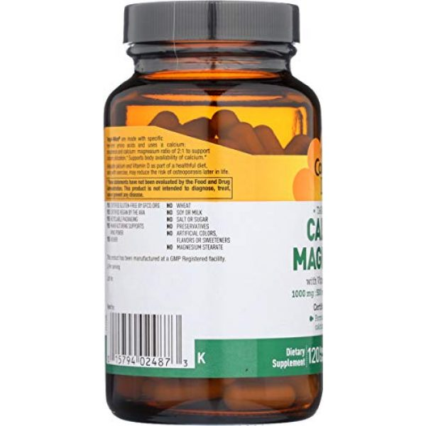 Country Life Calcium Supplement 4 Country Life Cal-Mag Veg Capsules, 120 Capsules
