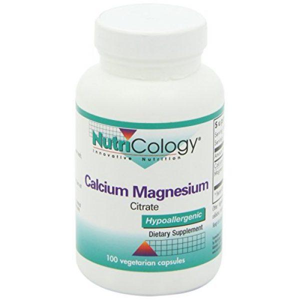 Nutricology Calcium Supplement 5 NutriCology Calcium Magnesium Citrate 100 Vegetarian Capsules