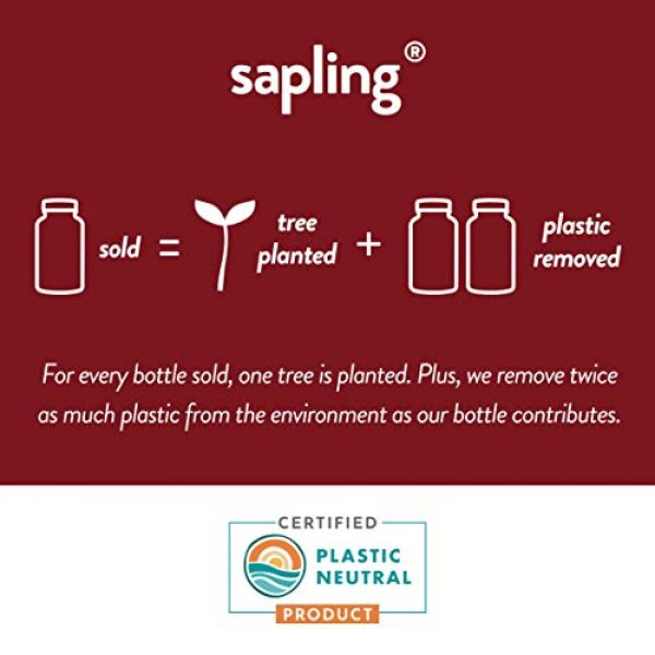 sapling Calcium Supplement 3 Calcium Supplement - Whole Food with Vitamin K2 & D3, Magnesium, Zinc, Boron, Mineral Complex. Sourced Sustainably from Red Algae. for Bone Strength and Support. Non-GMO & Vegan 90 Capsules.