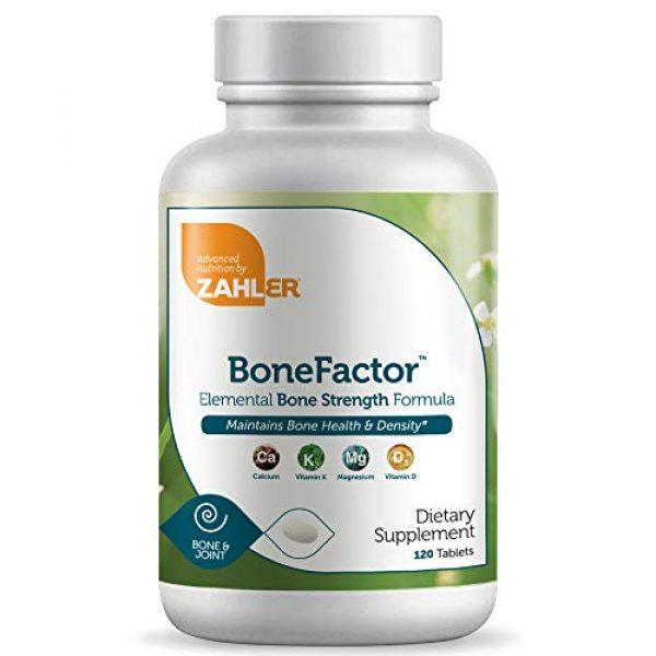 Zahler Calcium Supplement 1 Zahler Bonefactor, Bone Strength Supplement containing Calcium, Vitamin D, Vitamin K and Magnesium, Certified Kosher, 120 Tablets