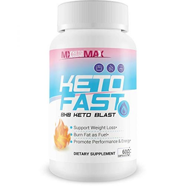 MX Keto Rapid Max Calcium Supplement 1 Keto Fast - BHB Keto Blast - Burn Fat Fast with Accelerated Ketosis Entry - by MX Keto Rapid Max - Feel The MX Keto Blast Effect of Calcium BHB Salts for max Rapid Keto Fat Burning and Weight Loss
