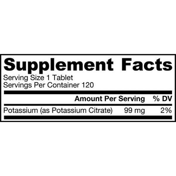 Jarrow Formulas Calcium Supplement 2 Jarrow Formulas Potassium Citrate, Supports Bone and Joint Health, 99 mg, 120 Tablets