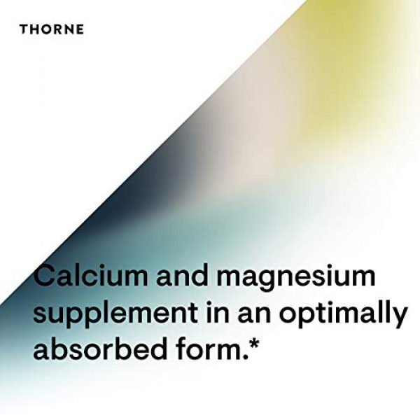 Thorne Research Calcium Supplement 5 Thorne Research - Cal-Mag Citrate Effervescent Powder - Calcium and Magnesium Supplement with Vitamin C for Stress Relief - 7.5 oz