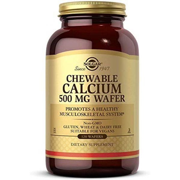 Solgar Calcium Supplement 1 Solgar - Chewable Calcium Wafers, 500 Mg, 120 Wafers