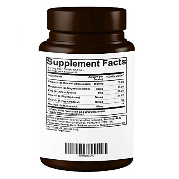 PURENUTRITION ME Calcium Supplement 3 Pure Nutrition Ultra Calcium Citrate 1250mg Highly absorbable Calcium Supplement with Calcium Citrate Malate, Vitamin D, Zinc and Magnesium - 1 Tablet Daily (90 Veg Tabs) Non-GMO | Gluten-Free
