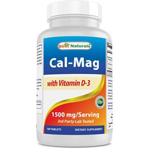 Best Naturals Calcium Supplement 1 Best Naturals Calcium Magnesium with Vitamin D3 1500mg Serving 180 Tablets