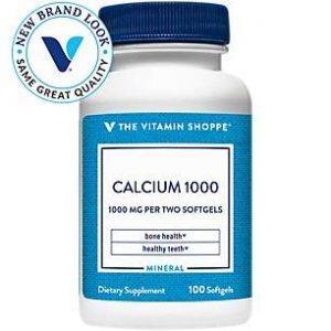 The Vitamin Shoppe Calcium Supplement 1 Calcium (Carbonate) 1000mg - Mineral Essential for Healthy Bones Teeth - Added 400IU Vitamin D to Aid in Absorption (100 Softgels) by The Vitamin Shoppe